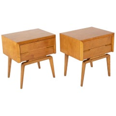 Pair of Maple Side Tables Designed by Edmond Spence