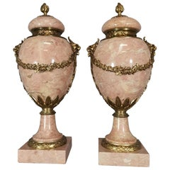 Pair of Marble and Gild Bronze Vase from the Early 1900, 20th Century