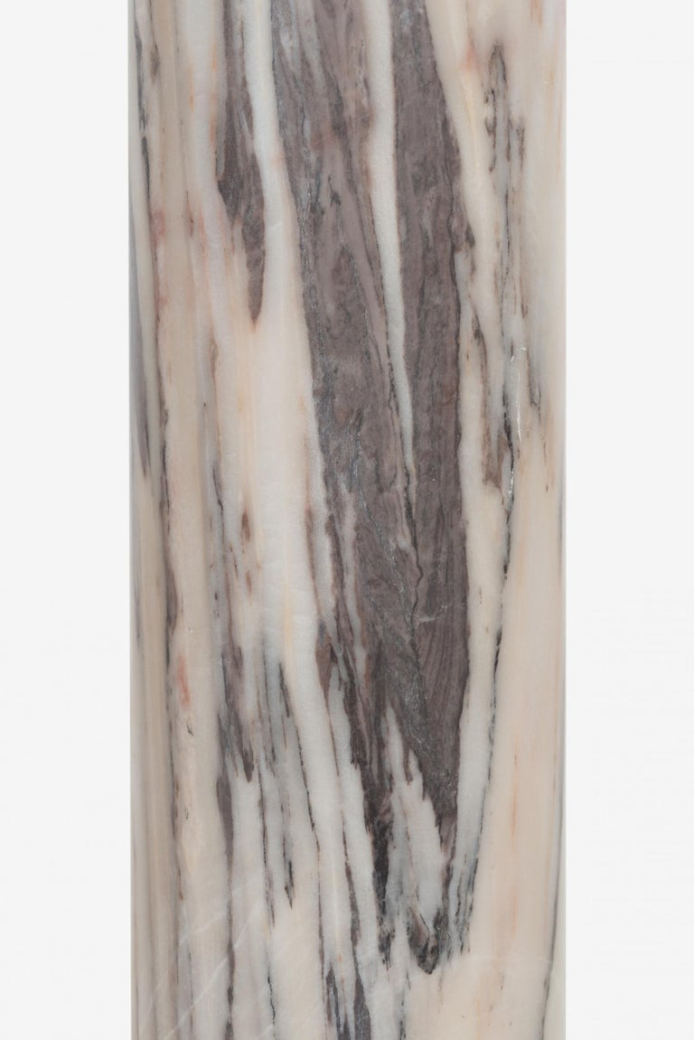 Mid-20th Century Pair of Marble Architectural Display Columns in Calacatta Pink Quarried in Italy For Sale