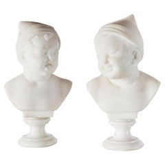 Pair of Marble Baby Busts, Italy, circa 1890