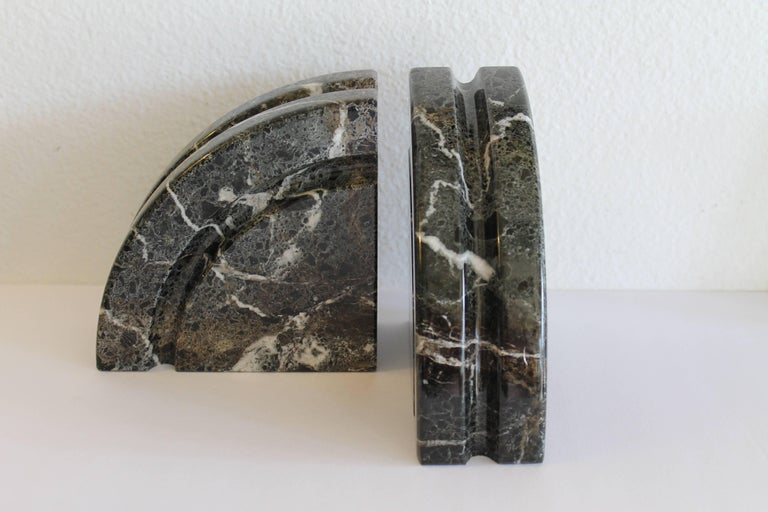 American Pair of Marble Bookends For Sale