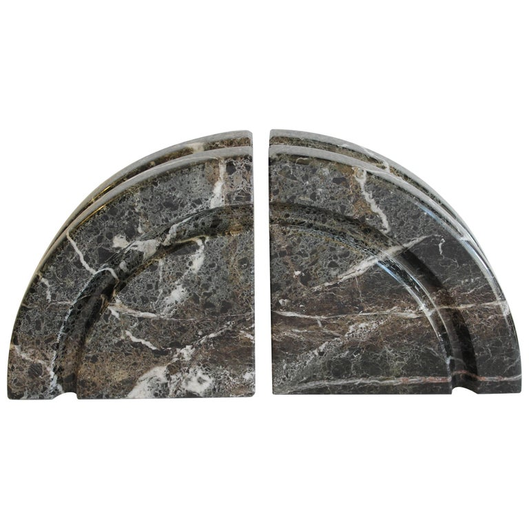 Pair of Marble Bookends For Sale