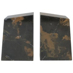 Marble Bookends, a Pair