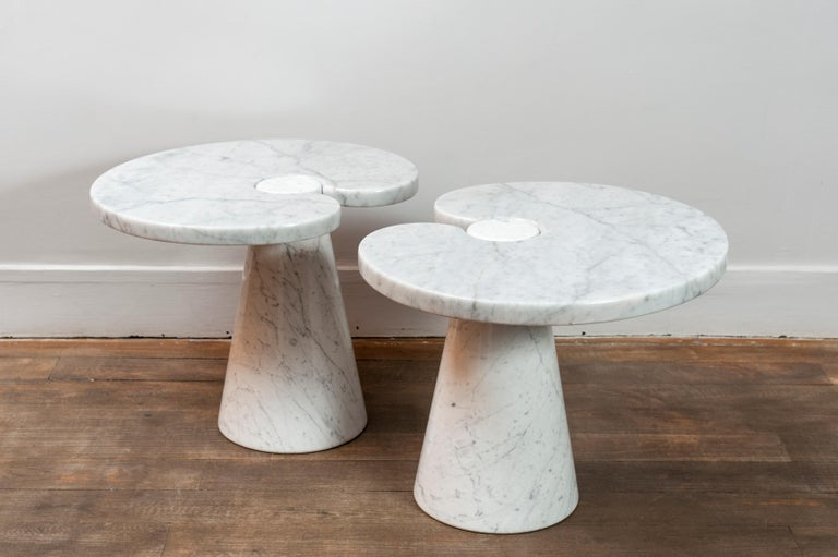 Pair of side tables from Mangiarotti's Eros series.