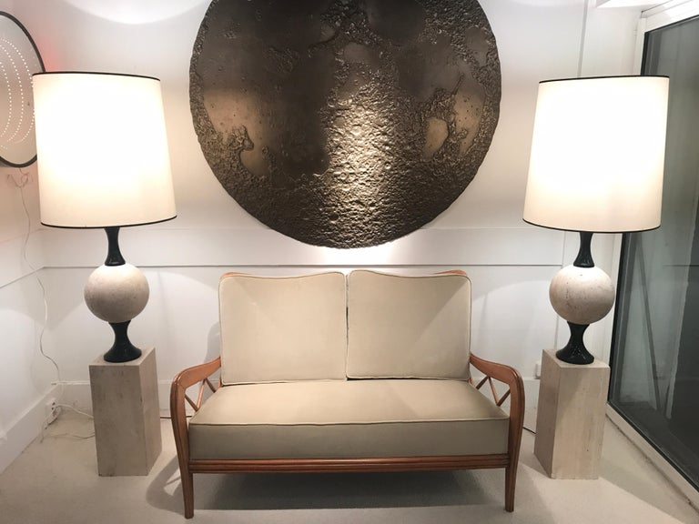 Pair of Marble Floor Lamps by Philippe Barbier For Sale 4