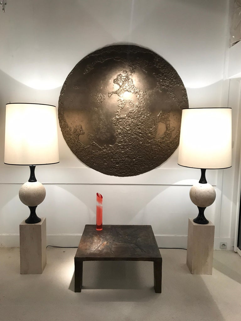 Pair of Marble Floor Lamps by Philippe Barbier For Sale 5