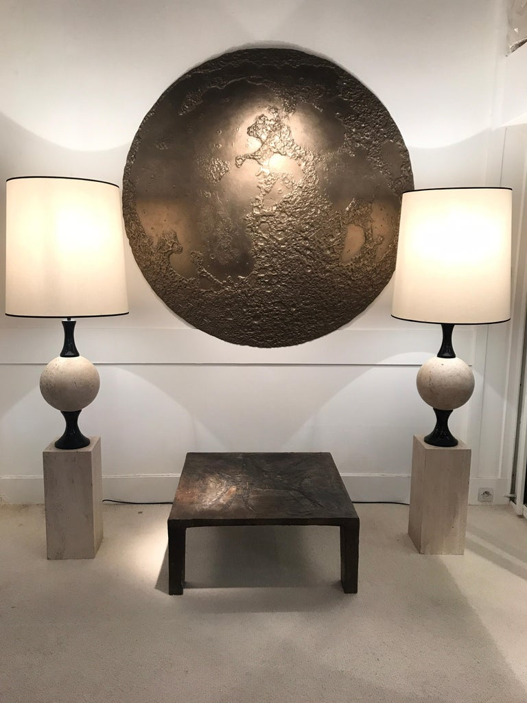 Pair of Marble Floor Lamps by Philippe Barbier For Sale 6