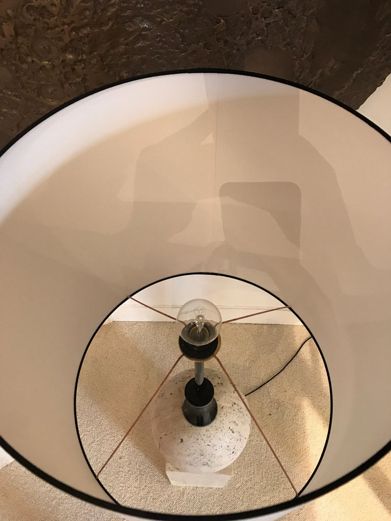 Pair of Marble Floor Lamps by Philippe Barbier For Sale 2