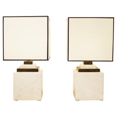Pair of Marble Lamp, 1980s