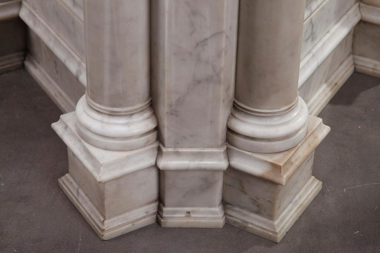 Pair of Marble Neoclassical Style Pedestals 5