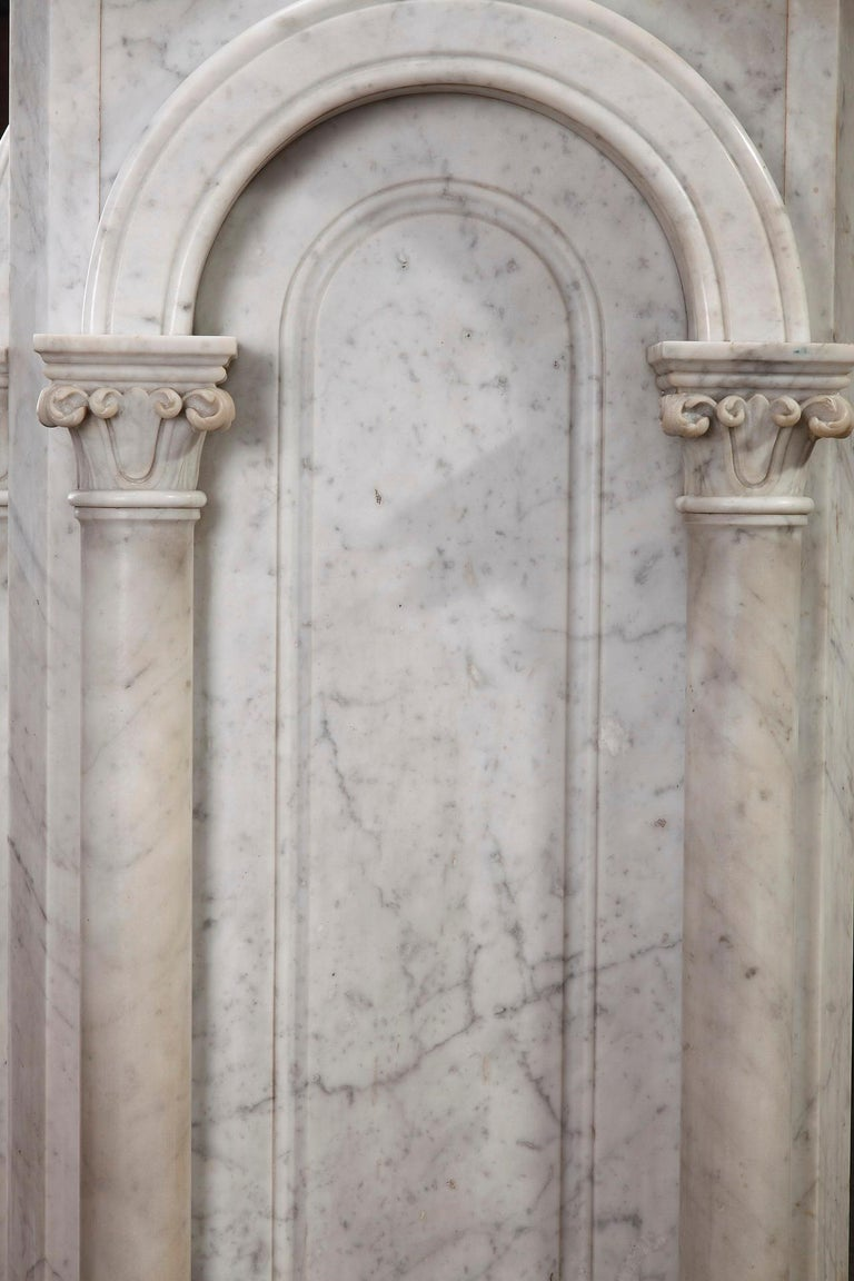 Pair of Marble Neoclassical Style Pedestals 6