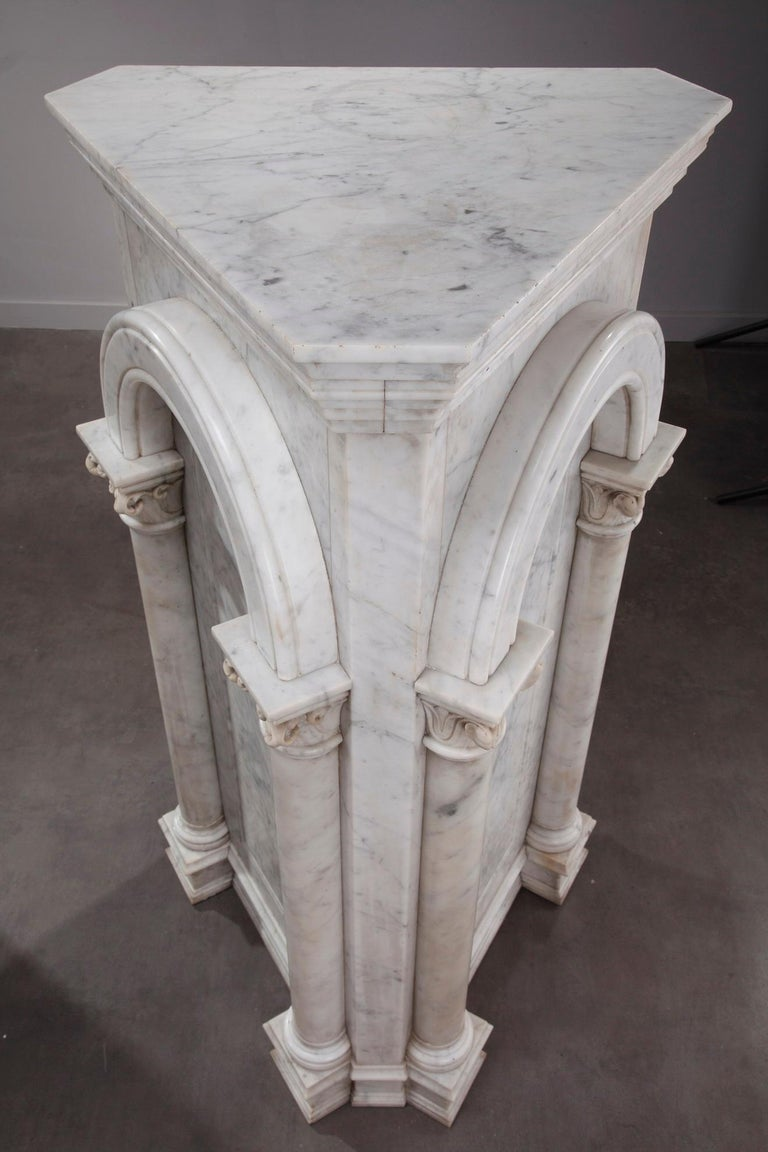 Pair of Marble Neoclassical Style Pedestals 7