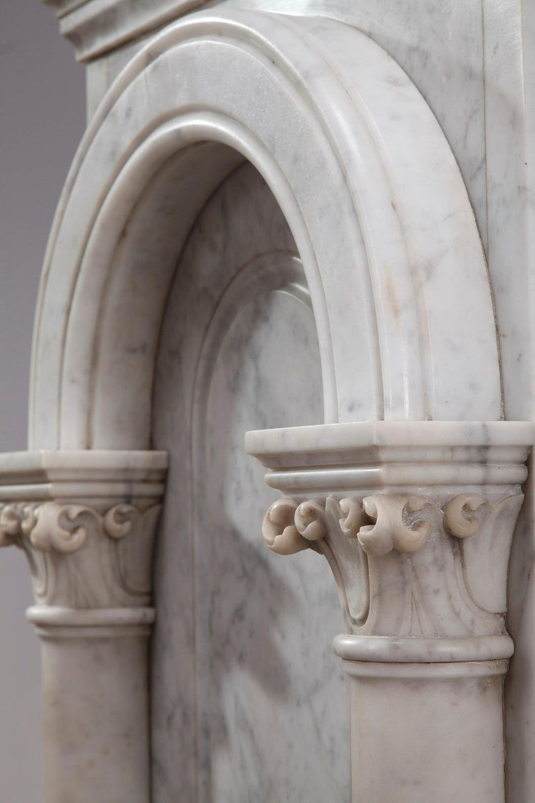 Pair of Marble Neoclassical Style Pedestals 9