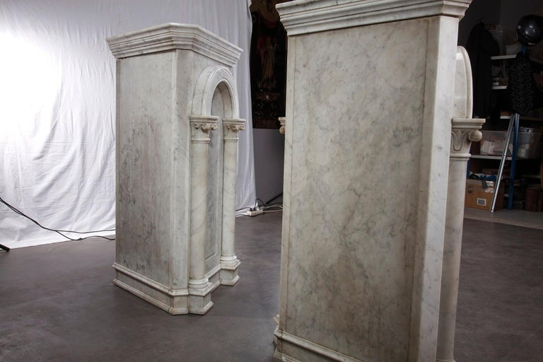 Pair of Marble Neoclassical Style Pedestals 11