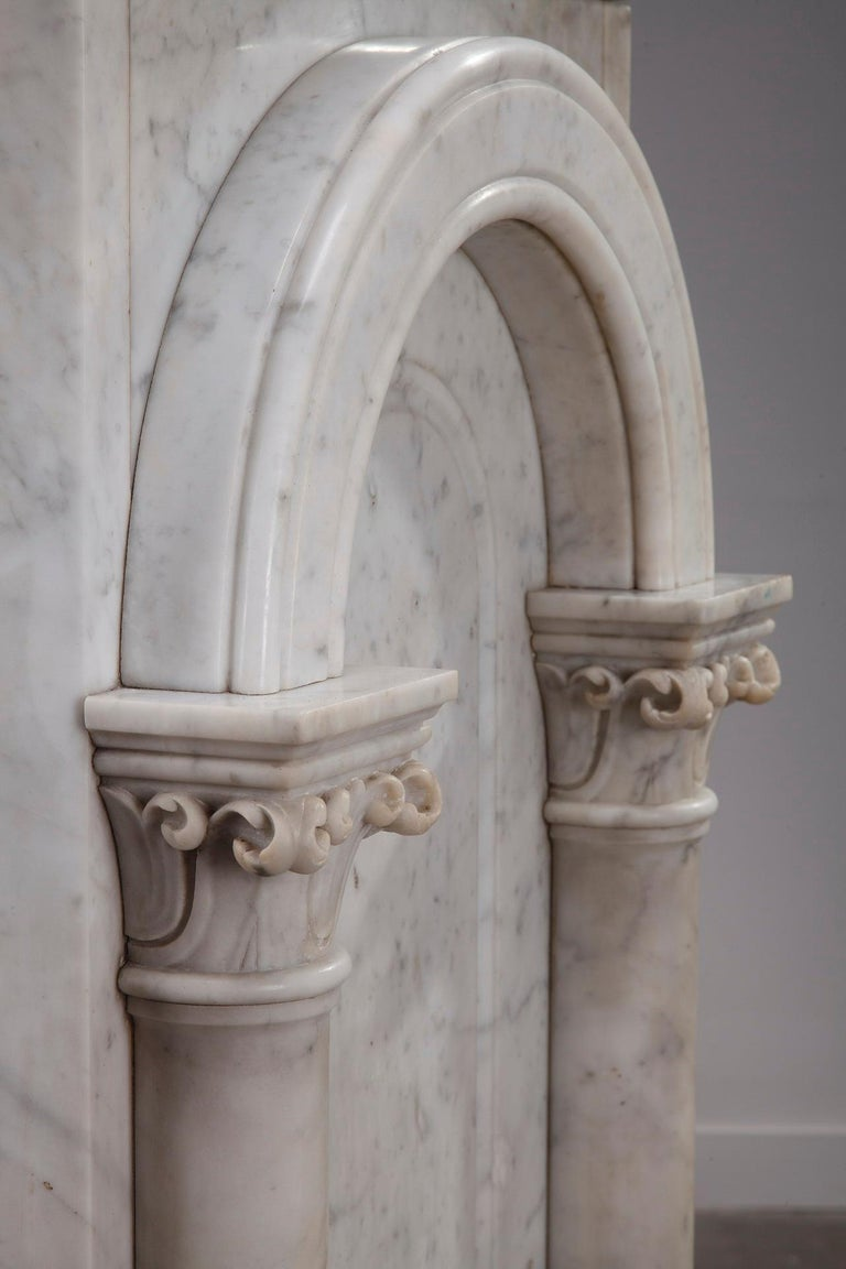 19th Century Pair of Marble Neoclassical Style Pedestals