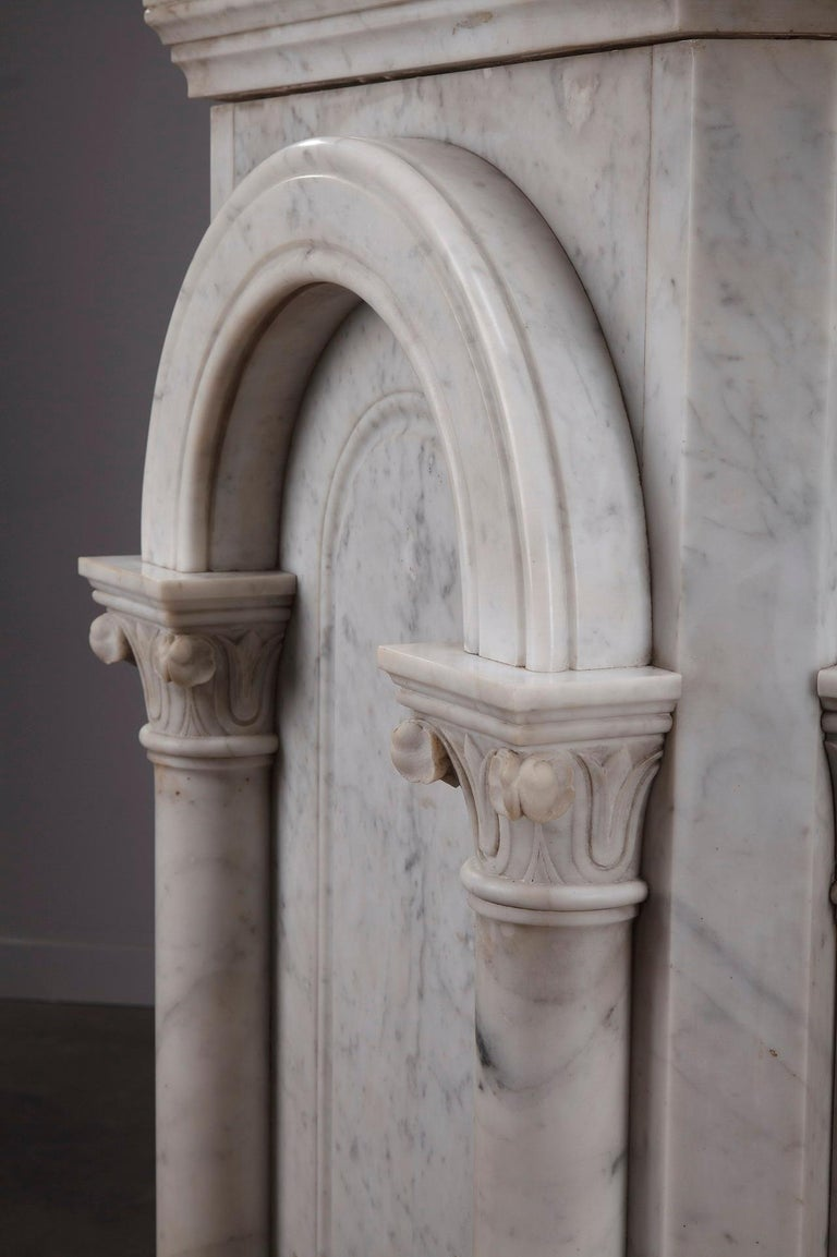 Pair of Marble Neoclassical Style Pedestals 1