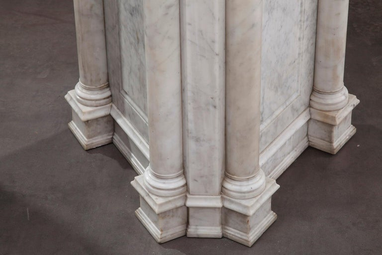 Pair of Marble Neoclassical Style Pedestals 2