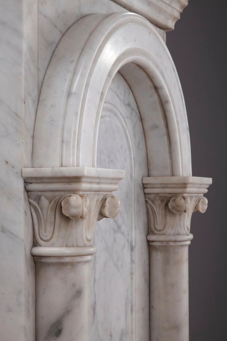 Pair of Marble Neoclassical Style Pedestals 3