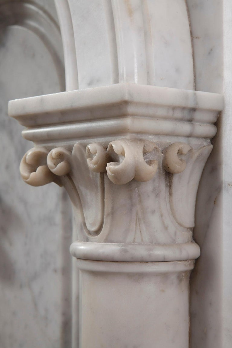 Pair of Marble Neoclassical Style Pedestals 4