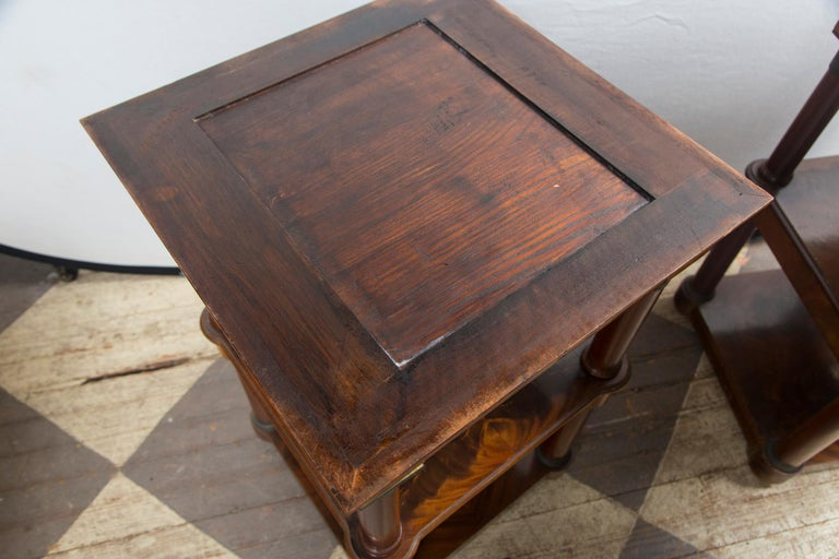 Pair of Marble Topped Empire Style End Tables For Sale 4