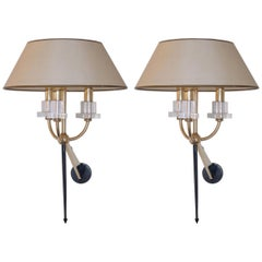 Pair of Marcel Asselbur Sconces, 1950s