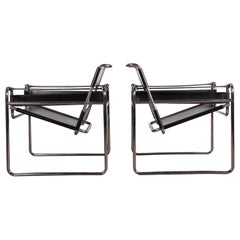 Pair of Marcel Breuer B3 Wassily Chairs for Gavina Knoll, 1971