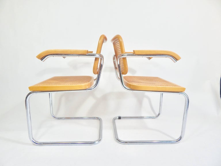 Pair of Marcel Breuer Cesca Chairs, 1970s In Good Condition For Sale In New York, NY