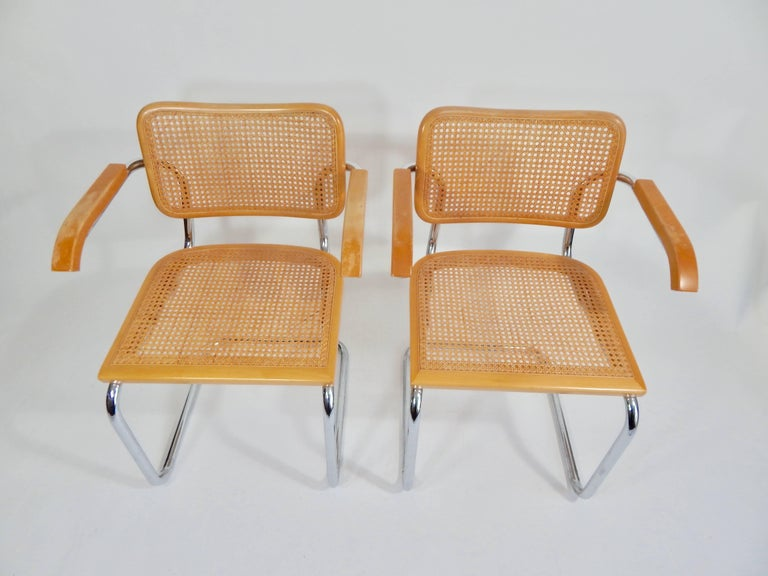 20th Century Pair of Marcel Breuer Cesca Chairs, 1970s For Sale