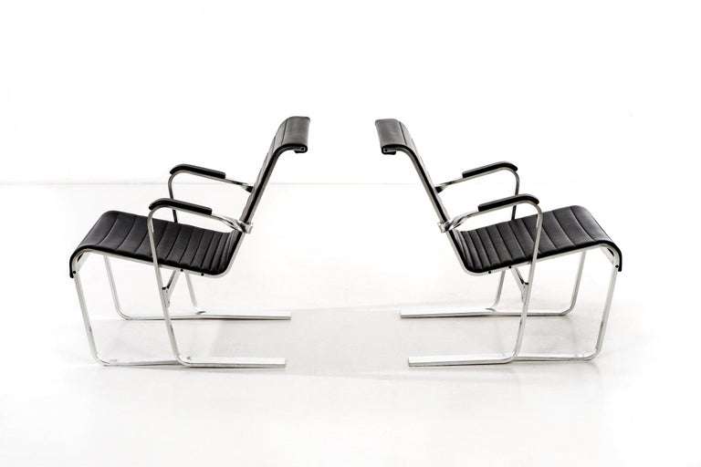 Pair of Marcel Breuer Lounge Chairs For Sale 5