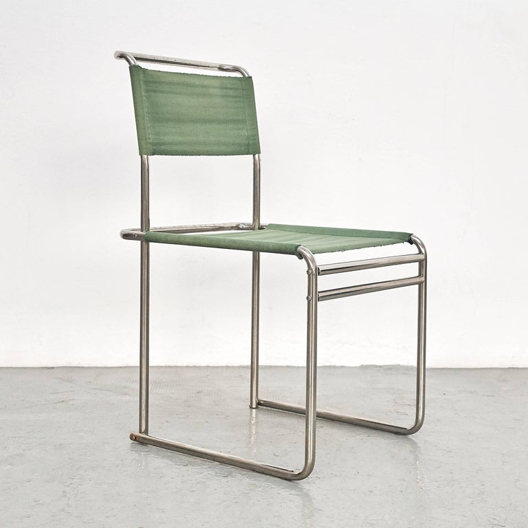 B5 chairs designed by Marcel Breuer, circa 1926.