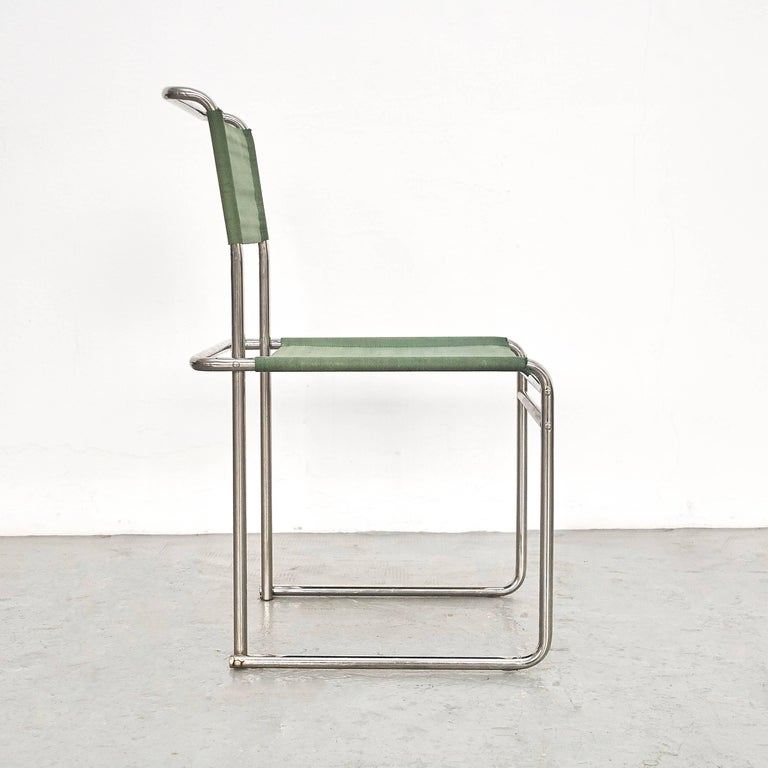 German Pair of Marcel Breuer Mid-Century Modern Bauhaus Metal And Fabirc B5 Chairs For Sale