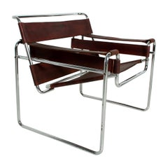 Pair of Marcel Breuer Wassily Chairs for Gavina, Mid-Century Modern, Italy