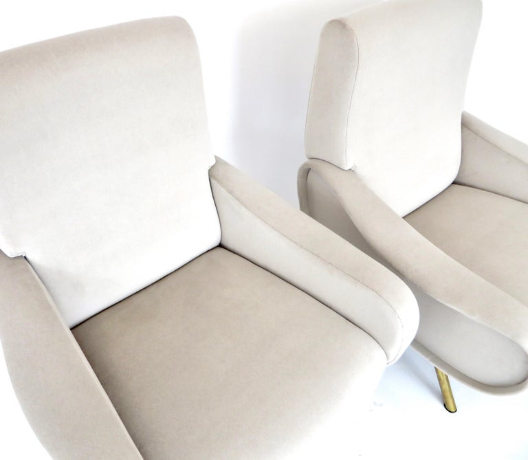 Pair of Marco Zanuso Italian Lady Lounge Chairs for Arflex For Sale 3