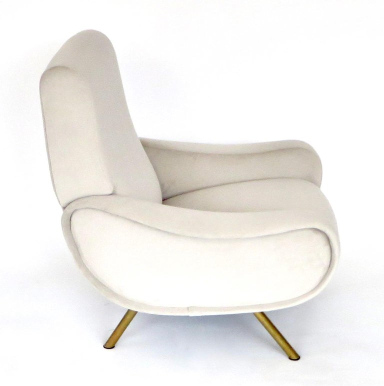 Mid-Century Modern Pair of Marco Zanuso Italian Lady Lounge Chairs for Arflex For Sale
