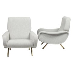 Pair of Marco Zanuso Lady Chair Arflex First Edition