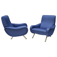 Pair of Marco Zanuso Lady Chairs, Early Edition