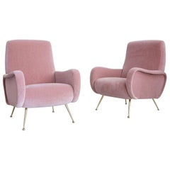Pair of Marco Zanuso Style Lady Chairs