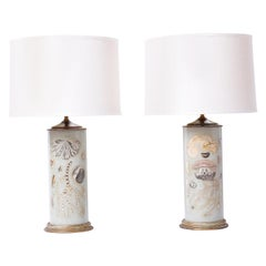 Pair of Marine Life Themed Table Lamps