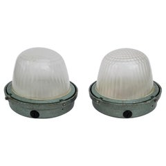 Pair of Marine Sconces by Holophane