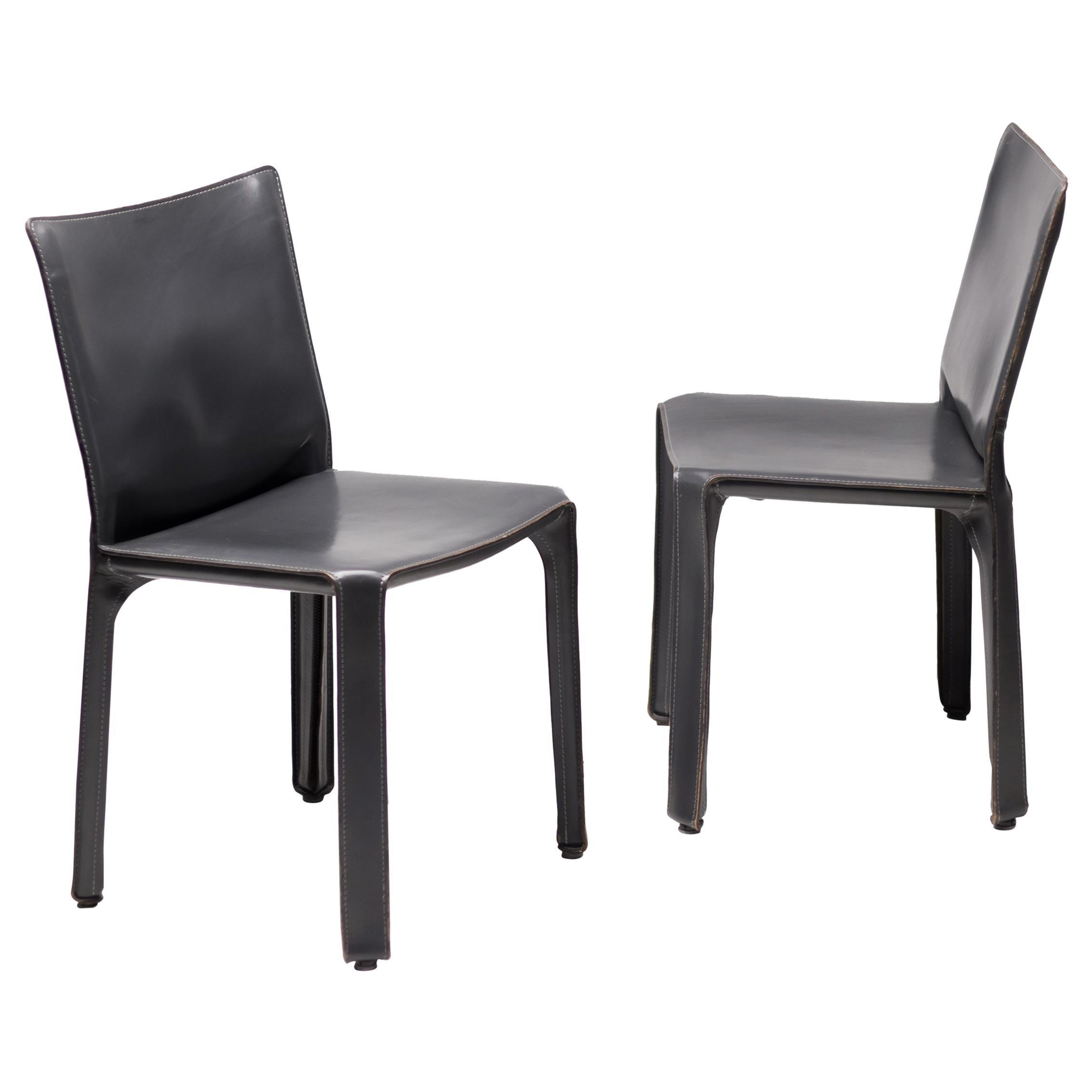 Pair of Mario Bellini Cab Chairs for Cassina