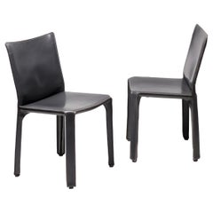 Pair of Mario Bellini Cab Chairs for Cassina