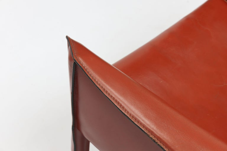 Pair of Mario Bellini CAB Lounge Chairs by Cassina, 1980s For Sale 7