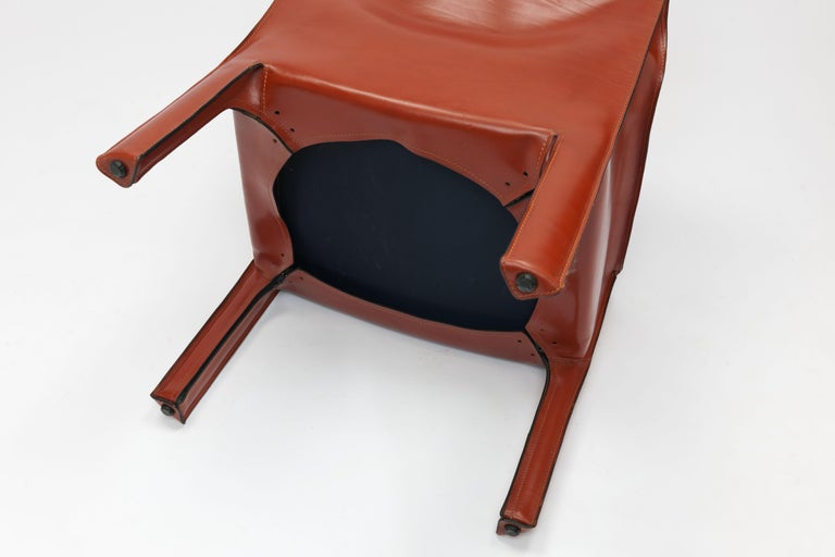 Pair of Mario Bellini CAB Lounge Chairs by Cassina, 1980s For Sale 10