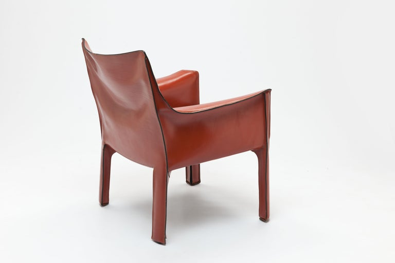 Italian Pair of Mario Bellini CAB Lounge Chairs by Cassina, 1980s For Sale