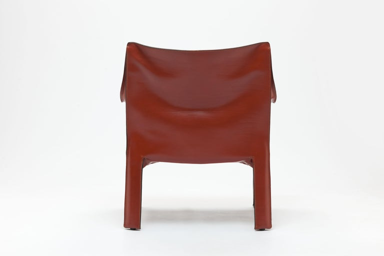 Pair of Mario Bellini CAB Lounge Chairs by Cassina, 1980s For Sale 1