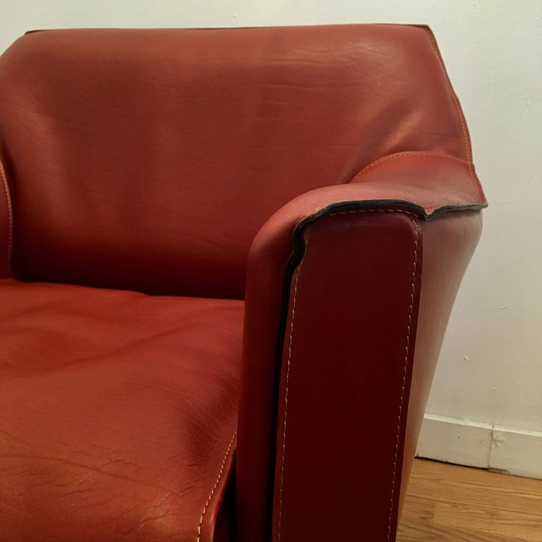 Pair of Mario Bellini Cab Lounge Chairs For Sale 2
