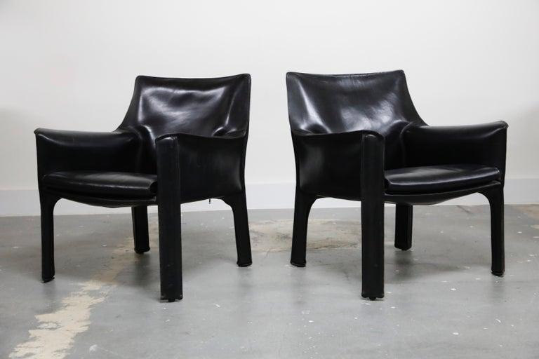 Mid-Century Modern Pair of Mario Bellini for Cassina