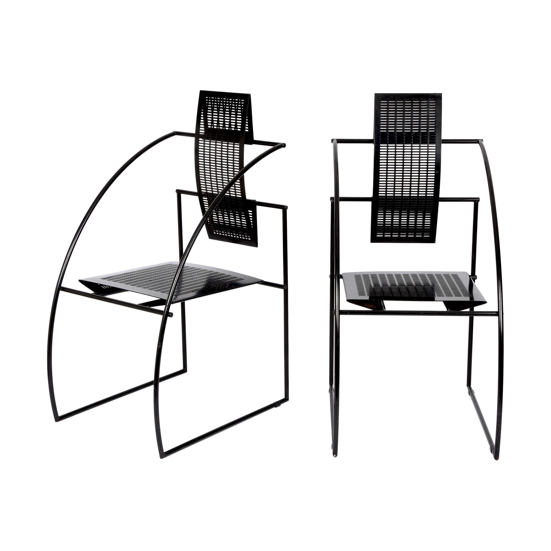 Pair of Mario Botta Quinta Italian Chairs for Alias, 1985