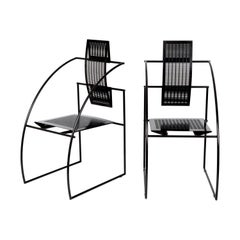 Pair of Mario Botta Quinta Italian Chairs for Alias, 1985