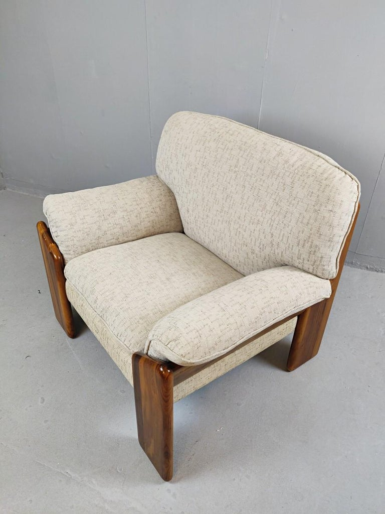 Mid-Century Modern Pair of Mario Marenco Armchairs, Italy, 1980s For Sale